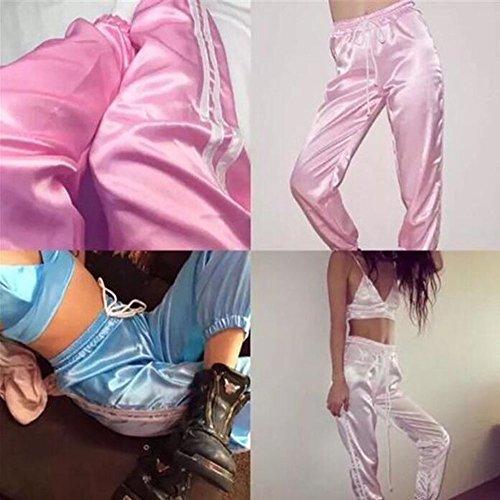 Straps Slim Casual Sports Harem Pour Rue Huateng Pantalon Bretelles Violet Hip Vêtements Femmes Hop zwqW8p