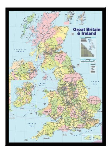 Uk map pin board framed in black wood includes 100 pins 965 x uk map pin board framed in black wood includes 100 pins 965 x 66 cms gumiabroncs Gallery