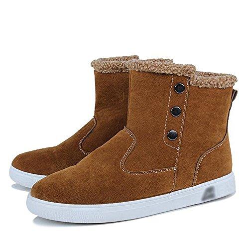 ocio hombres Mantener Caqui para calidad Zapatos colores 3 Ayuda Feifei de Material Invierno alta y alta Moda antideslizante calientes Bq5Ox5