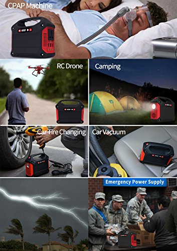 Portable Generator Power Inverter 42000mAh 155Wh Rechargeable Battery Pack Emergency Power Supply for Outdoor Camping Home Charged by Solar Panel Wall Outlet Car with 110V AC Outlet 3 DC 12V USB Port by ISUNPOW (Image #6)