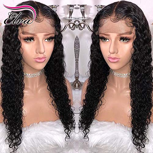 Full Lace Brazilian Remy Human Hair Wig 150 Density Pre-Plucked Hairline Full Lace Human Hair Wig Curly Hair Wig for Black Women (18 inch full lace wig, 150 Density)
