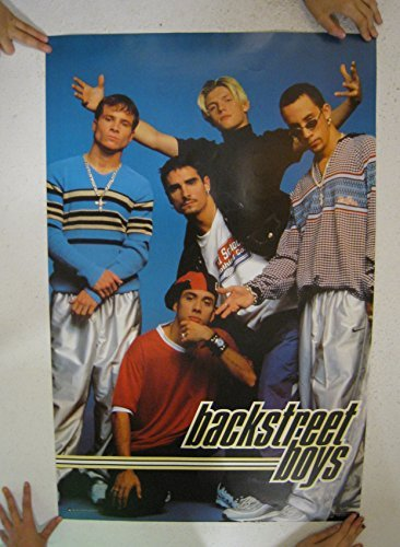 - The Backstreet Boys Poster Vintage Early Shot Of Entire Band