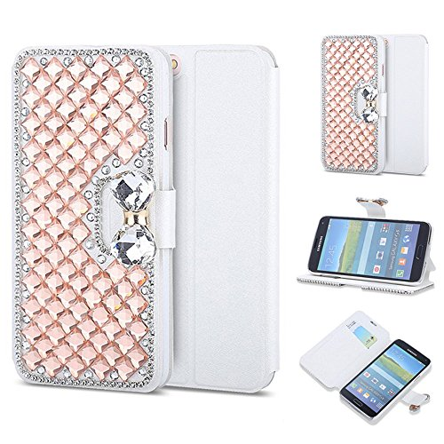 Price comparison product image Galaxy J3 Emerge case/ Galaxy J3 (2017) Flip Leather Case Stands Case,Three cray Luxury Bling Crystal Diamond Rhinestone Bow Lady Bag Case Cover For Samsung Galaxy J3 (2017)/J3 Emerge