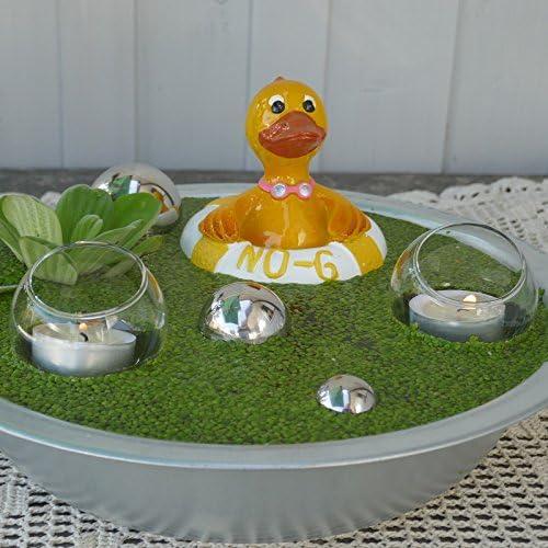 gelb Gartenzaubereien Miniteich Set Ente Ducky im Schwimmring