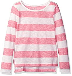 The Children\'s Place Little Girls\' Stacked Hem Pullover Sweater, Pink, XS (4)