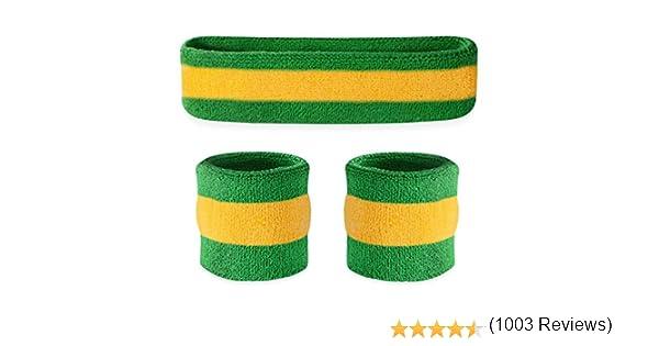 Conjunto deportivo de cinta para la cabeza y muñequeras Suddora ...
