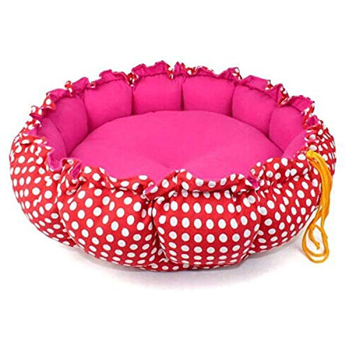 Asteria-Ashley Halloween Pumpkin Shape Printingkennel Comfortable Cat Bed pet nest Pet Pad Warm & Comfortable Collapsible Factory Outlet,Red,S]()