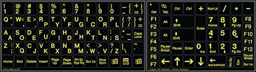 Glowing Fluorescent Dvorak English US Keyboard Sticker Non-Transparent!