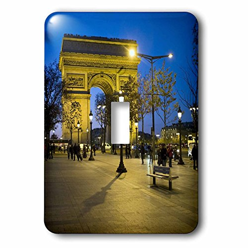(3dRose lsp_81424_1 Arch of Triumph, Paris, France Eu09 Dbn0547 David Barnes Single Toggle Switch)