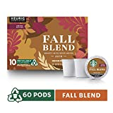 Starbucks Fall Blend Medium Roast Single-Cup Coffee for Keurig Brewers, 6 Boxes of 10 (60 Total K-Cup Pods)