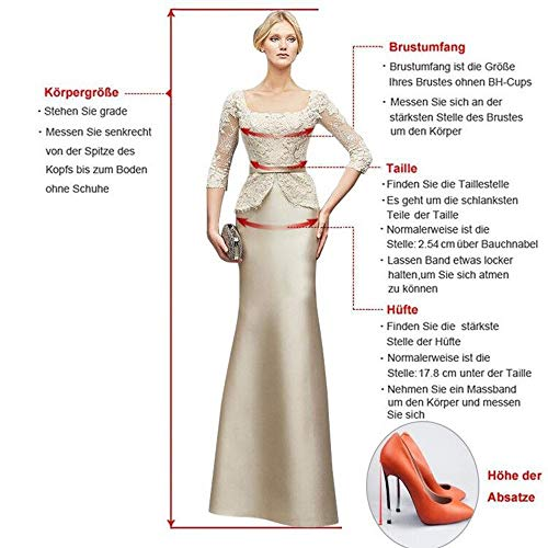 Brautmutterkleider Abendkleider Etuikleider Grün Langarm Braut Blau Promkleider Spitze Knielang Damen La mit Marie Royal 80xw40zq