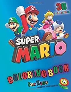 Super Mario Coloring Book For Kids Books Boys And Girl 30 Illustrations