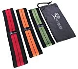 Hip Resistance Bands for Men and Women | Exercise, Circle, Loop Band for the Gym | Legs and Booty | Non Slip Fitness (Set of 3) | Weight Lifting, Stretching, Pilates, Yoga | Low, Medium, Heavy