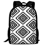 Backpack Aztec Black Womens School Campus Backpack