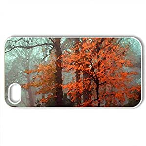 Autumn Splendor - Case Cover for iPhone 4 and 4s (Watercolor style, White)