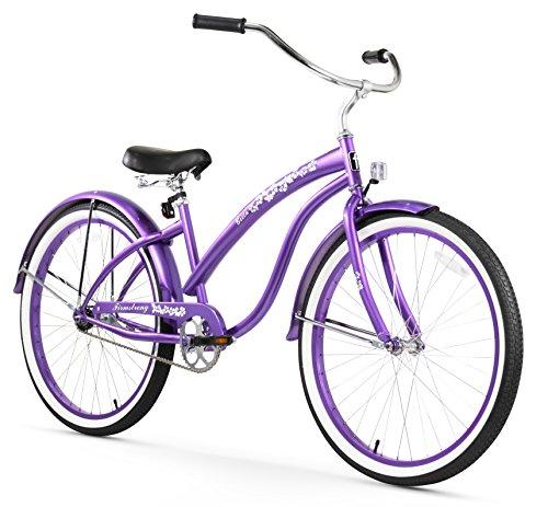 Firmstrong Bella Classic Single Speed Beach Cruiser Bicycle, 26-Inch, Purple (Womens Beach Cruiser Purple)