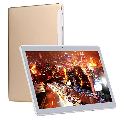 4G LTE 10.1 Inch Android Tablet PC, Octa-Core Processor, Android 7.0,4GB RAM 64GB Storage,1920x1200 IPS HD,Dual Sim Phone Call,Dual Camera,WiFi,Bluetooth,GPS,Tablets Phablet (Gold)