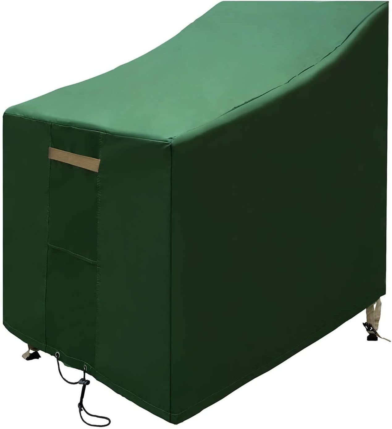 YHCGRE Patio Outdoor Chair Cover Waterproof 600D Heavy Duty Lounge Deep-Seat Patio Stacking Cover,Rip-Stop , Durable Lawn Patio Furniture Covers Garden High Back Chairs Protector 25Lx32 Dx33H IN-Green