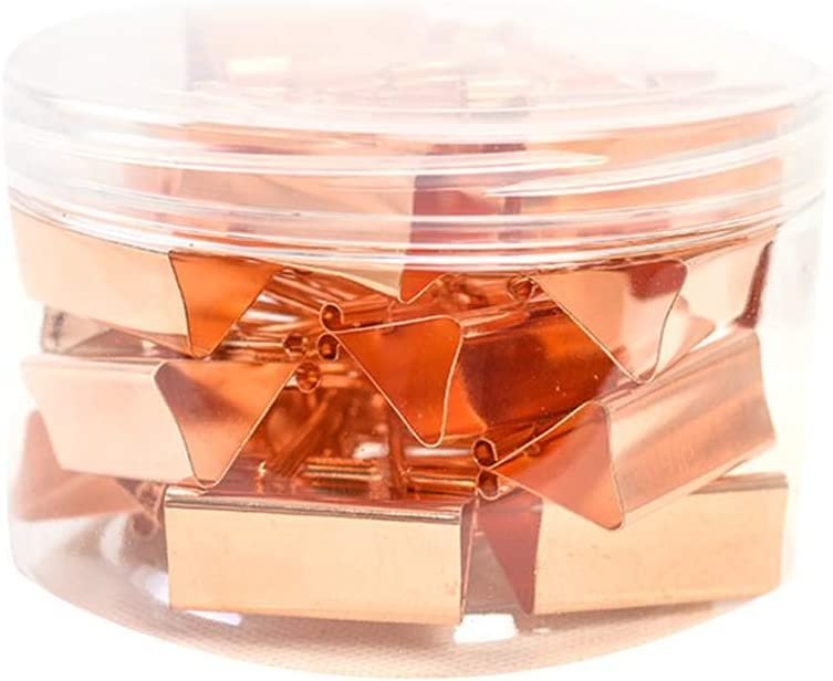 Busirde 10pcs Rose Gold Papier Binder Clip Mode-Metall Schwalbenschwanz B/ürobedarf Schule Organizer Clips Ros/égold 19mm