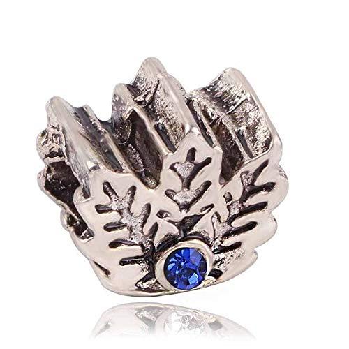 Pukido Ranqin Original Fashion European Charm Snow Bead Pendant Series Fit Pandora Charms Bracelets DIY Pandora Jewerly - (Color: ()