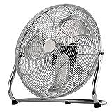 Dealberry Chrome Metal High Velocity Cold Air Circulator Adjustable Floor Fan (18')