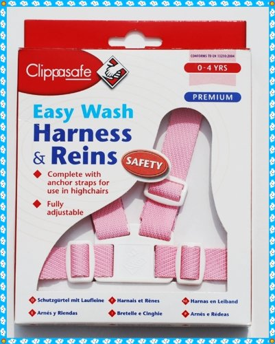 CLIPPASAFE PREMIUM EASY WASH PINK HARNESS & REINS