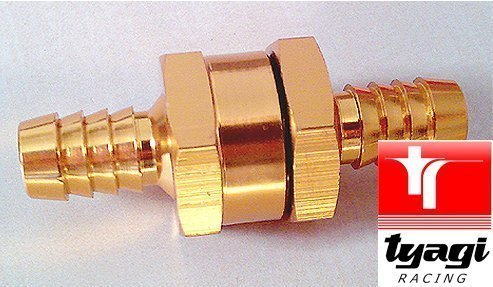 Fuel Line Hose Valve - Non Return Valve - Fuel Tank Breather 10mm 3/8' Check Valve - One Way Valve TyagiRacing NRV-N10