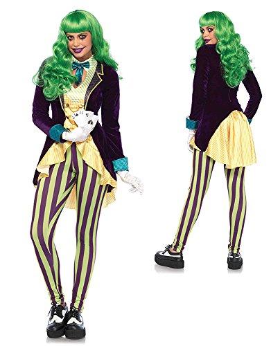 Leg Avenue Women's Evil Trickster Villain Costume, Multi, -
