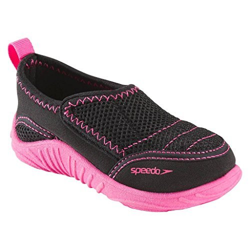 SPEEDO Kids Surfwalker Shoes, Black/Pink, 5/6 US Toddler