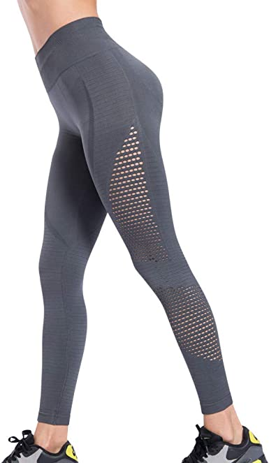DressLksnf Leggings para Mujer Color Sólido Talle Alto Pantalones ...