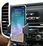FMU Car Phone Mount, CD Slot Car Phone Holder, One-Touch Design and Cell Phone Holder with Three-Side Grips Compatible iPhone Xs/XS/XR/X/8/8Plus/7/7Plus/6/6Plus/Galaxy/S7/8/9/10 Nexus and More