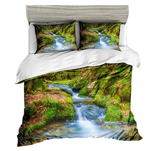 Amore Bridal Duvet Cover Pillowcase Set Super Soft Cartoon Woods Printing Bedding ()