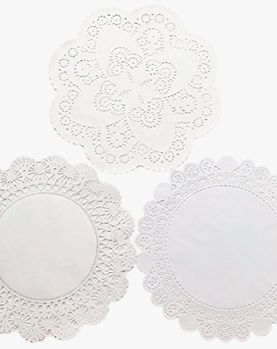 The Baker Celebrations 12 inch Variety Pack 30 pc. Paper Lace Doilies Cambridge, French and Royal - 10 of Each -