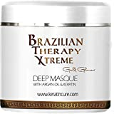 Keratin Cure Deep Hair Reparation Masque BTX Pina Colada with Argan Oil - Shea Butter 500 g / 15 Oz Conditioning For Damaged Hair Moisturizing Hair Treatment