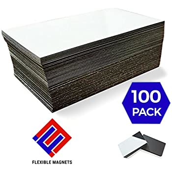 Amazon 1 x 100 adhesive magnetic business card magnets 20 mil self adhesive business card magnets flexible peel stick 2 x 35 inches great promotional product ideal for putting up on refrigerator or metal reheart Images