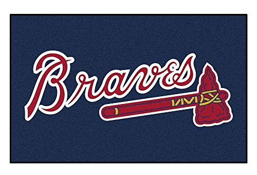 Fan Mats Tarp for Tailgating Parties in Extra Large - Atlanta Braves (Tailgating Mlb Mat)
