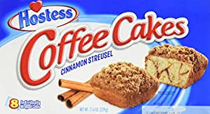 Hostess Coffee Cakes Cinnamon Streusel - 8 pieces/1pack