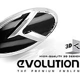 LIGHTKOREA 3D K Logo Emblem 2ea Grill Rear Trunk For Kia 2011 2013 Optima K5