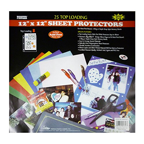 Pioneer Bulk Sheet Protectors for 12 x 12 Pages (Pack of -