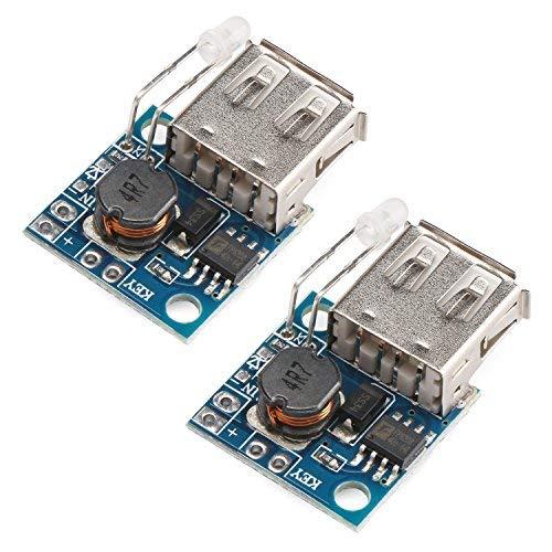 Power Supply Module 5V, DROK 2pcs Mini USB Boost Converter DC-DC Step Up Voltage Regulator Transformer 3V to 5V 2A Volt Step-up Circuit Board