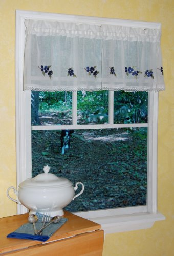 Blueberry Kitchen Curtains Fruit Themed Kitchen Curtains