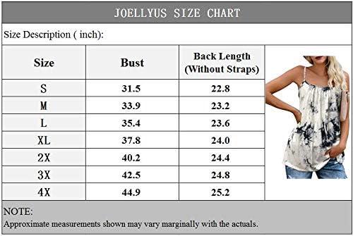 JOELLYUS Plus Size Womens Tank Tops Tie Dye Loose Plus Size Cami Spaghetti Strap Tunic Blouses
