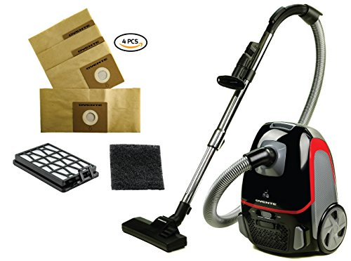 Ovente ST1600 Series (Black Bundle) Canister Vacuum,