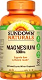 Sundown Naturals Magnesium, 500 mg (180 Coated Caplets) Mineral Supplement, Meets Daily Recommended Intake