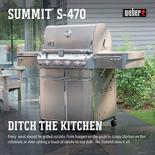 Weber 7170001 Summit S-470 4-Burner Liquid Propane Grill,...