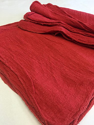 2500 New RED Industrial Commercial Shop Cleaning Towels Rags