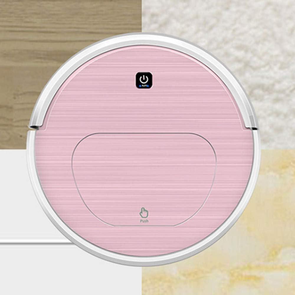 SEESEE.U Robot de Nettoyage Robot de Balayage Intelligent pour la Maison Balayage Automatique Aspirateur Vadrouille Balayeuse Aspirateur Rechargeable Robot, (Couleur: Rose) Pink