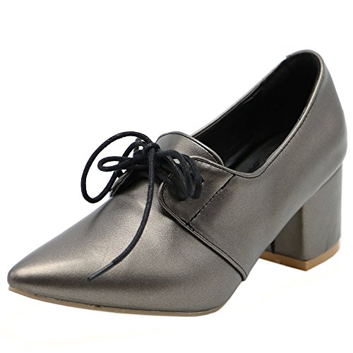 RAZAMAZA Black Mujer Pumps Puntiagudo Zapatos 7xwarf7Sq