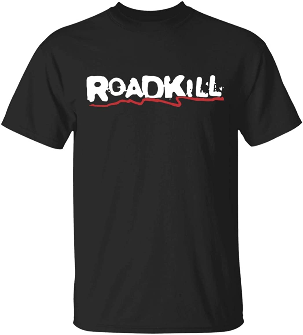 B07XYF6W53 Cool Roadkill Casual Cotton Round Neck Man T Shirts Retro Classic 90s Nowhere Man T-Shirt 512BZSGIHJEL