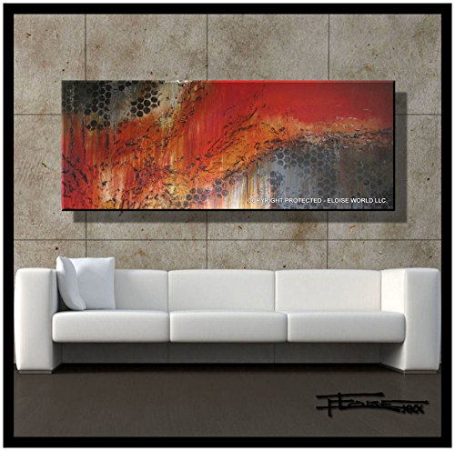 ELOISE WORLD STUDIO - ELOISExxx Abstract Modern Canvas Oil Painting, Limited Edition Giclee, Wall Art, Framed, 60in. Direct from Artist.